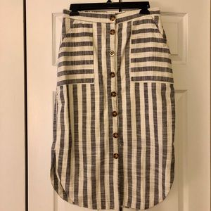 Maeve by Anthropologie striped linen skirt size 4